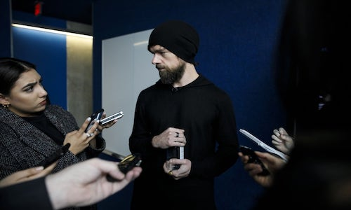 Twitter and Square CEO Jack Dorsey wears an Oura Ring.
